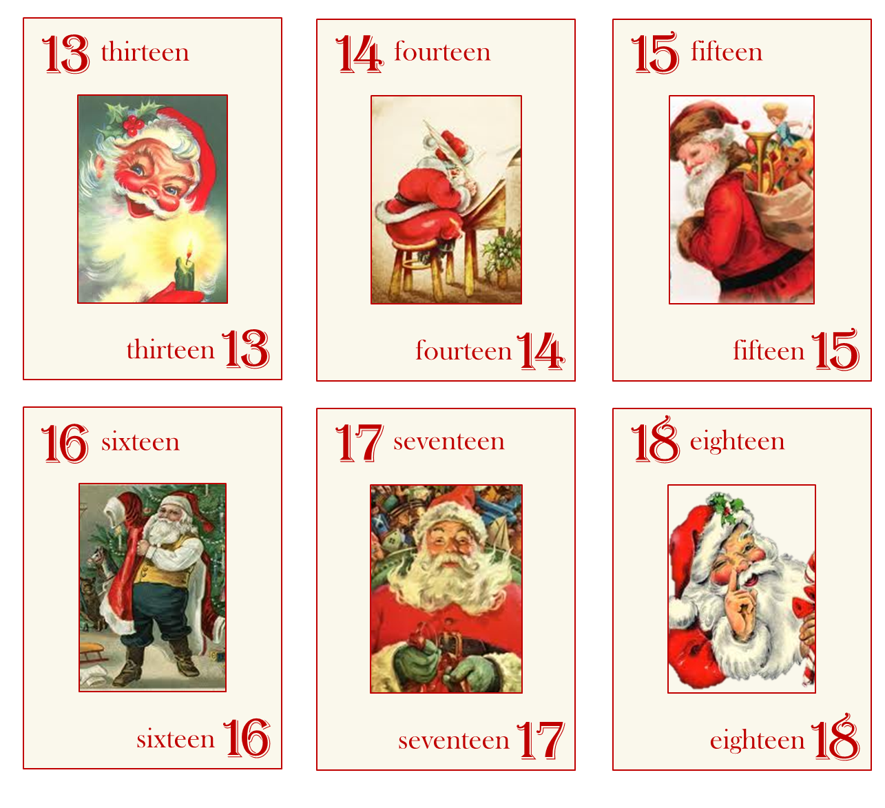 Advent Calendars Prinatble   Calendar Template 2016