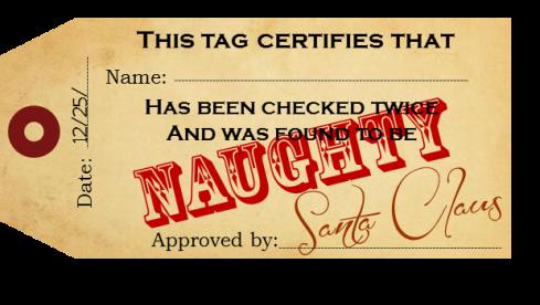 Naughty Tag