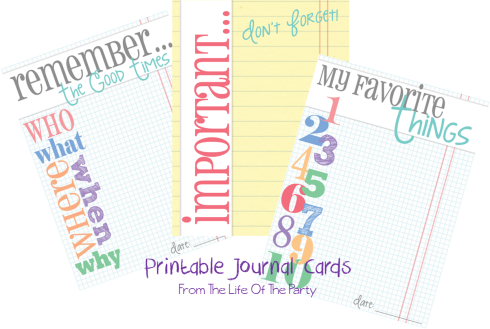 Journal Card Set