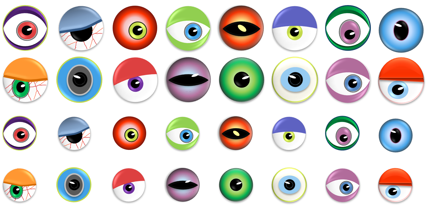 Bright image pertaining to printable eyeballs