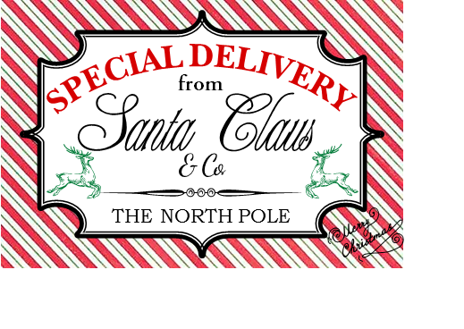 Insane image within free printable north pole special delivery printable