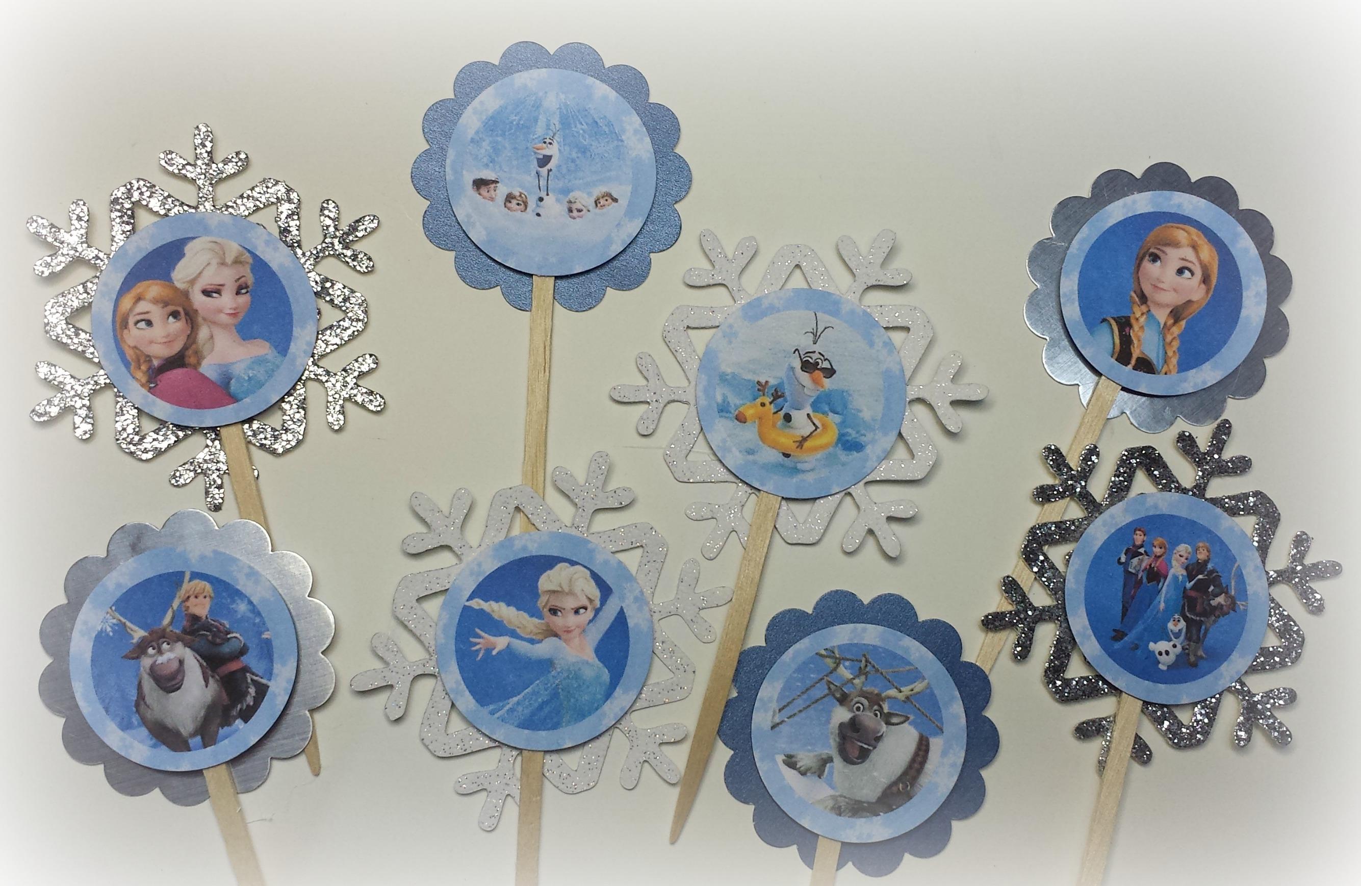 Frozen cupcake toppers frozen birthday cupcake