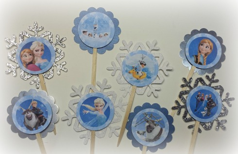 Frozen Birthday Cupcake Toppers - The Life of the Party