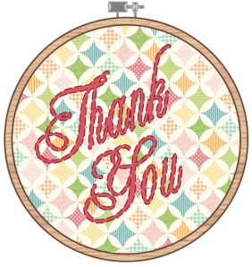 Embroidery Hoop_Thank You - The Life of the Party
