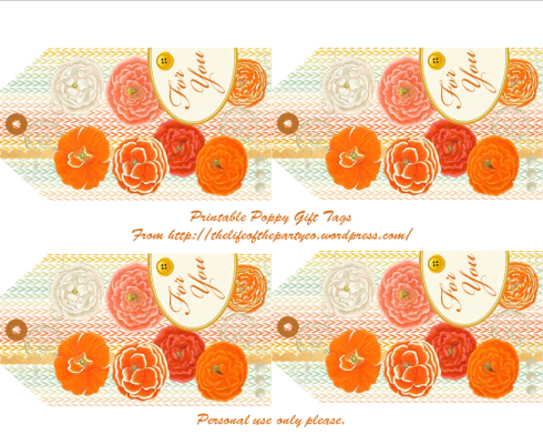 Printable Poppy pdf - The Life of the Party